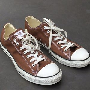 Converse all-star low tops brown size 12